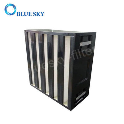 610*610*292mm HEPA Air Filter for V Bank Rigid Box HVAC System